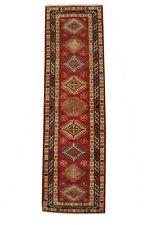 Hall Carpet 2.5 x 10 Super Kazak Scarlet Red Silky Sheen Runner 32 x 114 in Rug