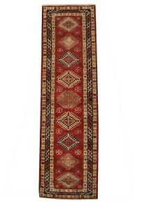 Hall Carpet 2.5 x 10 Super Kazak Scarlet Red Silky Sheen Runner 32 x 114 in Rug