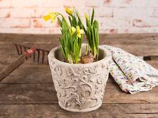 """Vaso per piante """"Viticcio"""" 19 cm, ceramica beige, vintage stile antico,"""