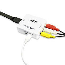 NEW HDMI to AV HDMI to RCA Video Audio AV CVBS Adapter Converter