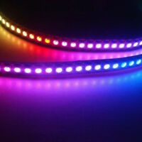 Waterproof 5050 RGB 5M 300 LED Strip Light 12V Controller White Black Board
