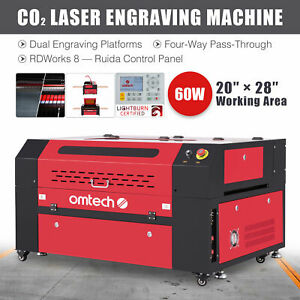 OMTech 60W 28x20in Workbed Laser Engraver Cutter Etcher with Ruida Control Panel