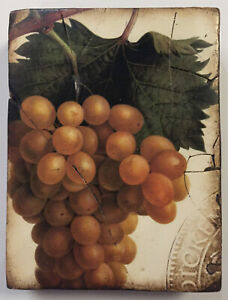 """Sid Dickens T-110 """"Grapes"""" memory block wall tile retired 2007"""