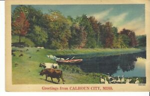 POSTCARD GREETINGS FROM CALHOUN MISSISSIPPI