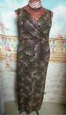 Roman Ballgown/Long Dress size 18 Black/Rose Gold Glitter Stretch Evening Formal