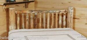 Small Spindle  LOG HEADBOARD    -USA Handcrafted  Rustic- FREE SHIPPING! RUSTIC!