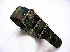 NATO G10 ® Ballistic CAMO nylon watch band Military strap RAF stitched IW SUISSE