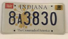 INDIANA License Plate 👉The Crossroads of America Raised Letters 8A3830 ~MINT~
