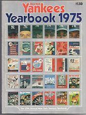 1975 New York Yankees Baseball Yearbook - Ruth, Gehrig, DiMaggio, Mantle