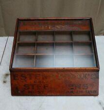 Antique Esterbrook's Fountain Pen Nib Display Cabinet Wood