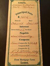 1908 Iowa Mortgage Principal Note - Mortgage Farm Loans