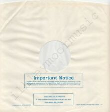 "Vintage INNER SLEEVE or SLEEVES 12"" POLYDOR lined v11 PLASTIC BAGS 15804 Imp x 2"