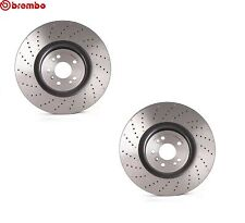 For Mercedes GL350 AMG 450 ML550 Set of 2 Front Brake Disc Rotor Brembo 09A96021