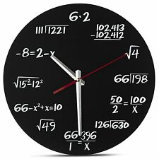 Unique Math Wall Clock a Simple Math Equation Each Hour Marked By Wall Clock
