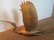 Solid Brass Sculpture Of Water Fowl In Flight