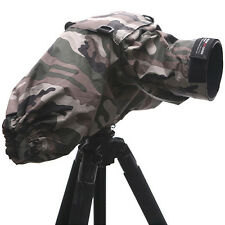 Army Camouflage PROTECTOR RAIN COVER SLR 300mm Lens Bag for Canon Nikon Sony