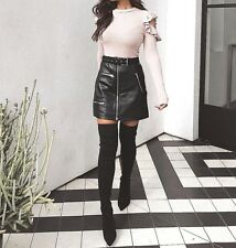 2c5a6137bd8 Over The Knee Boots Thigh High Stretch Upper Pointy Toe Stiletto Heel Shoe  Boot