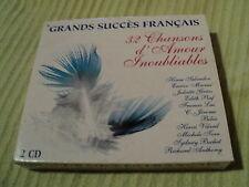 """COFFRET 2 CD """"GRANDS SUCCES FRANCAIS - 32 CHANSONS D'AMOUR INOUBLIABLES"""" Bibie,"""