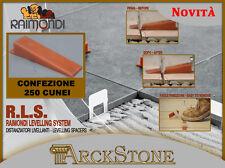 NOVITA! R.L.S. - RAIMONDI LEVELLING SYSTEM - Confezione 250 Cunei