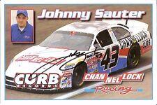 2003 JOHNNY SAUTER signed NASCAR PHOTO CARD POSTCARD DODGE CHANNELLOCK RACING 43