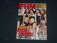 2001 NOVEMBER FHM MAGAZINE (FOR HIM) - UK EDITION - ROCK CHICKS COVER - CW 813