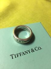 Genuine 1997 Tiffany & Co. Sterling 1837 Concave Ring - Size 7 with Box