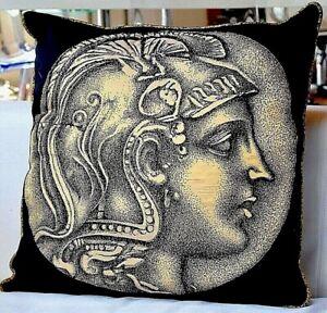 Fornasetti Authentic Large Cushion Coin NUMMUS Male Rare Discontinued Original