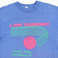 Vtg 80s Volleyball Tournament T-Shirt L Faded Screen Stars Single Stitch USA
