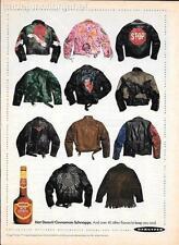 MAGAZINE PRINT AD - 1991 DEKUYPER HOT DAMN! SCHNAPPS AD - LEATHER JACKETS