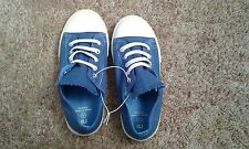 BOYS NEW SLIP ON BLUE LACE DETAIL SHOES SIZE 12 MOTHERCARE
