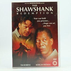 The Shawshank Redemption DVD 1994 Stephen King Tim Robbins Morgan Freeman R2 GC