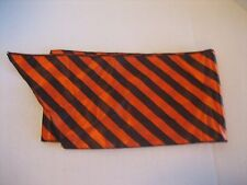 Striped Black & Orange Long Scarf/Hip Scarf 6 1/2 in.W x 56 in.L New No Tags