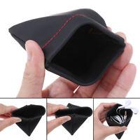 Estuche de cuero de PU portátil para auriculares bolsa de almacenamiento au PDyu