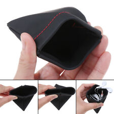 Portable PU leather earphone case storage bag headset headphone carrying pouch'