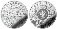 "Lithuania 5 euro 2019 ""Scouts"" Silver Ag PROOF"