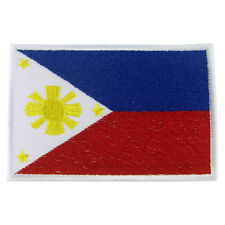 PHILIPPINES Nation Flag Logo Embroidered Iron On Patch #PFGPH2