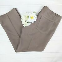 Levi's RARE Vintage 70s Men's Black Tab Taupe Gray Altered Trousers Size 38x32