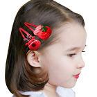 10Pcs Mixed Cartoon Hair Clips Baby Kids Girls Xmas Hairpins Hair Accessories