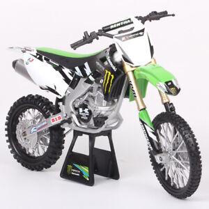 Newray Big 1:6 Scale Kawasaki KX450F Motocross Model Dirt Bike Toy Motorcycle