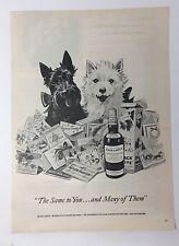 Original Print Ad 1954 BLACK & WHITE SCOTCH Christmas Cards Westies