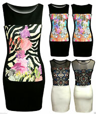 Unbranded Women's Floral Polyester Stretch, Bodycon Dresses