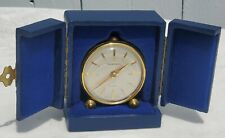 TIFFANY & CO. #285 8 DAY TRAVEL ALARM CLOCK w/ FITTED CASE!  RARE-FREE USA SHIP