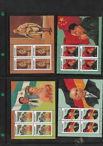 4 Montserrat Souv Sheet OF 4 STAMPS 1998 Famous People of the 20th Century MNH**