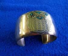 with Brass Owl Copper Cuff Bracelet