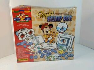 Mickey Mouse Stuff For Kids Safari Stamp Set - Crayola New Sealed 1994 FAST SHIP