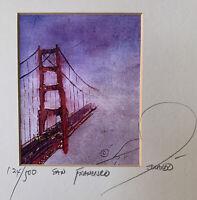 "Eduardo Guzman Hand Signed and Numbered ""San Francisco"" Golden Gate Bridge"
