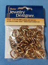 Darice Round Jump Ring Asst GOLD 72 pc  1999-1575