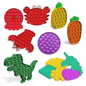 PINEAPPLE Push Pop Kids It Toy Bubble Special Needs Silent Sensory Fidget Autism