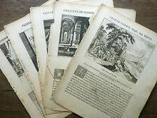 LOT 5 GRAVURES 18e siècle JOSEPH (fils de Jacob) BIBLE Sacy MERIAN 1770