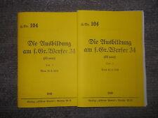 Granatwerfer 34 von 1940 2 Hefte Dienstanweisung Beschreibung 72 Seiten 2.WK